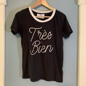Sol Angeles X Anthropologie French Tres Bien Tee